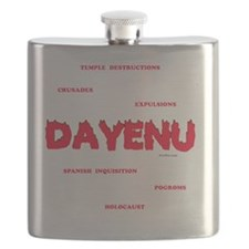 Dayenu white flat Flask