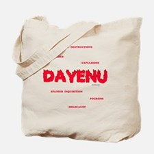 Dayenu white flat Tote Bag