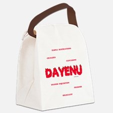 Dayenu white flat Canvas Lunch Bag