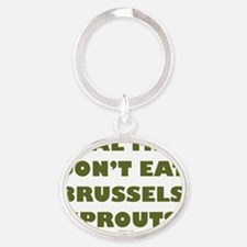 Brussels Sprouts flat Oval Keychain
