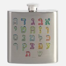 Aleph Bais Flat Flask