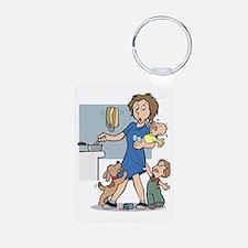 24/7 mom Keychains
