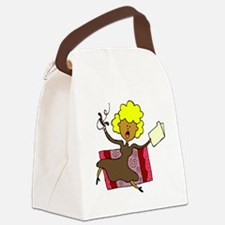 stressed caregiver Canvas Lunch Bag