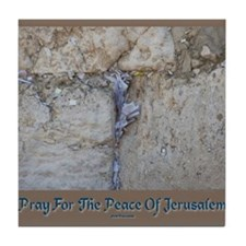 Peace Jerusalem 1 Tile Coaster