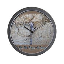Peace Jerusalem 1 Wall Clock