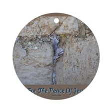 Peace Jerusalem 1 Round Ornament