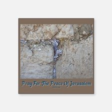 "Peace Jerusalem 1 Square Sticker 3"" x 3"""