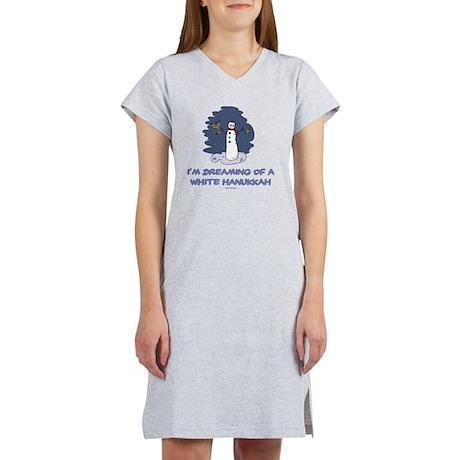 White Hanukkah 2 flat Women's Nightshirt