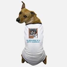 White Hanukkah 3 flat Dog T-Shirt