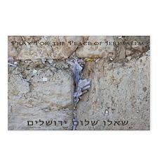 Pray Jerusalem 3 Postcards (Package of 8)