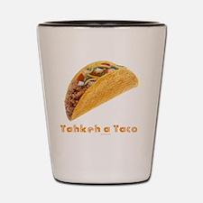 Takkeh a Taco flat Shot Glass