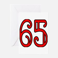 Red 65 Greeting Cards (Pk of 20)