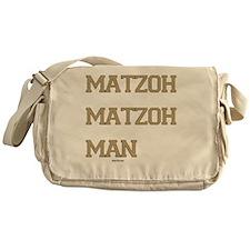 Matzoh MAtzoh Man Words flat Messenger Bag