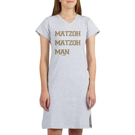 Matzoh MAtzoh Man Words flat Women's Nightshirt