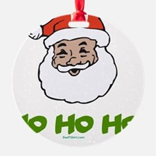 Black Santa flat 2 Ornament