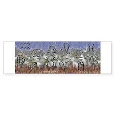 Elemental Astrology Bumper Bumper Sticker