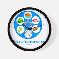 Step UpTO Plate 4 flat Wall Clock