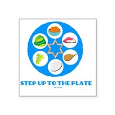"Step UpTO Plate 4 flat Square Sticker 3"" x 3"""