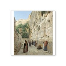 "Peace Jerusalem 2 Square Sticker 3"" x 3"""