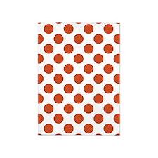 Orange | White Big Polka Dots 5'x7'Area Rug