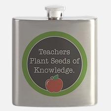 Teachers plant seeds Flask