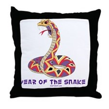Year Of The Snake Throw Pillow