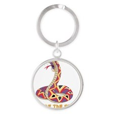 Year Of The Snake Round Keychain