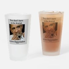 Funny Purim Obama Drinking Glass