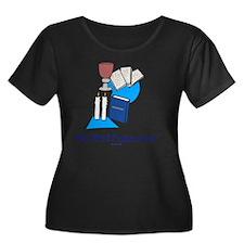 My First Women's Plus Size Dark Scoop Neck T-Shirt