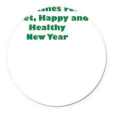 Happy Jewish New Year Insert Round Car Magnet