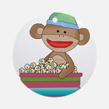sock monkey popcorn Ornament (Round)