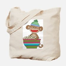 sock monkey popcorn Tote Bag
