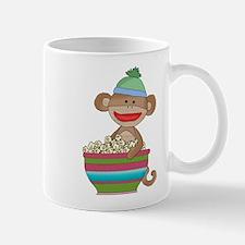 sock monkey popcorn Mug