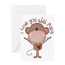 I love you monkey Greeting Card
