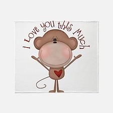 I love you monkey Throw Blanket