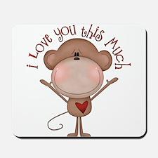 I love you monkey Mousepad