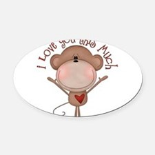 I love you monkey Oval Car Magnet