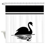 Black and White Design Shower Curtain
