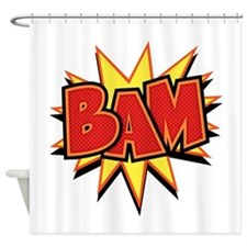 2-bam3-T.png Shower Curtain
