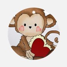 Monkey with candy Ornament (Round)