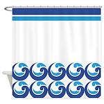 Blue Beach Waves Shower Curtain