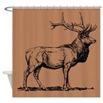 Elk Design Shower Curtain