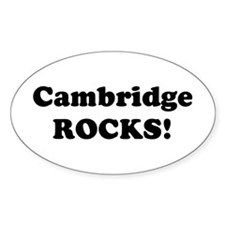 Cambridge Rocks! Oval Decal