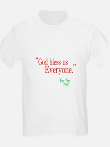 God bless us everyone Kids T-Shirt