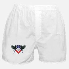 Masonic Red, White and Blue Eagles Boxer Shorts