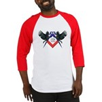 Masonic Red, White and Blue Eagles Baseball Jerse