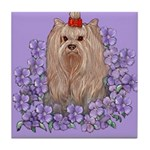 Yorkshire Terrier - YORKIE Tile Coaster