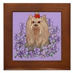 Yorkshire Terrier - YORKIE Framed Tile