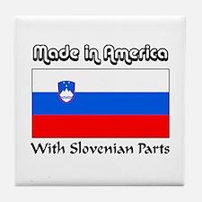 Slovenian Parts Tile Coaster