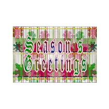 Season's Greetings Rectangle Magnet